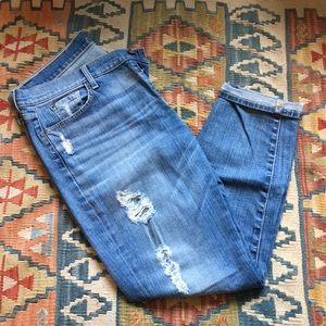 7FAM size 32 josefina boyfriend jeans